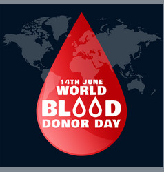 June world blood donor day concept background vector