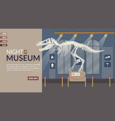 Landing page inviting to cultural event at museum vector