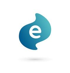 Letter e logo icon vector