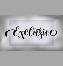 Lettering poster logotype vector