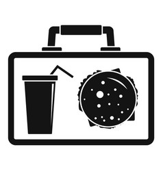 lunch bag icon simple style vector image