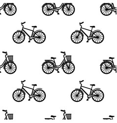 Man and woman bikes seamless pattern vector