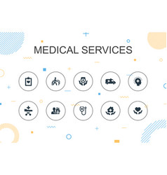 medical services trendy infographic template thin vector image