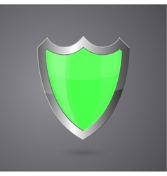 Metal surround shield on a dark background vector