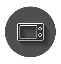 microwave flat icon microwave oven symbol logo on vector image