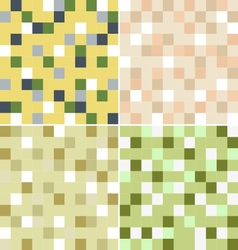 mosaic with four color vector image
