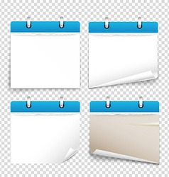Paper diary on transparent background collection vector