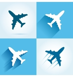 Plane icons set vector