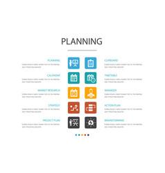 Planning infographic 10 option conceptcalendar vector