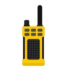Portable radio transmitter icon flat style vector image
