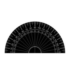 protractor silhouette vector image