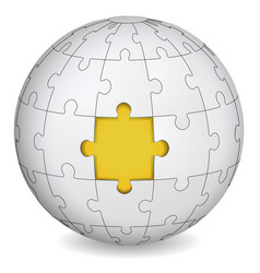 puzzle land with yellow the middle vector image
