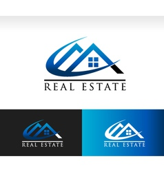 Real Estate House Roof Logo Icon vector image