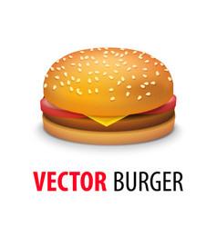 realistic cheeseburger vector image