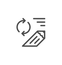 review line icon vector image