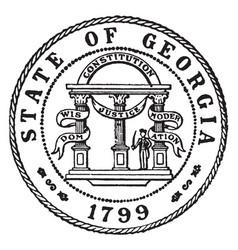 seal state georgia 1799 vintage vector image