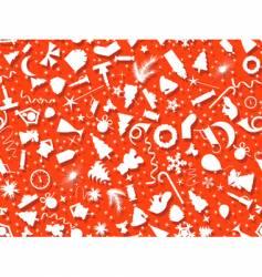 seamless set Christmas symbol vector image