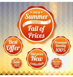 Set of sale business banners for summer autumn vector