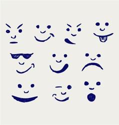 Set smileys vector