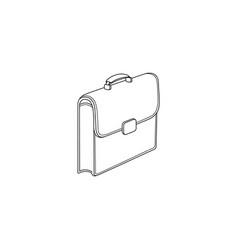 sketch briefcase business case bag icon vector image