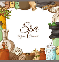 spa poster template symbols and elements in vector image
