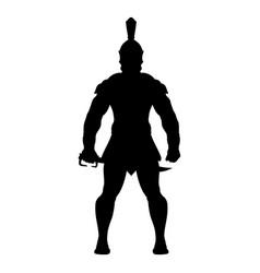 sparta silhouette 0002 vector image