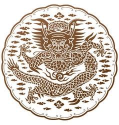 Spiritual dragon chinese myth vector