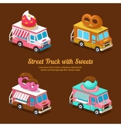 Sweets Food Truck sweet isometric vector image