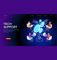 technical support concept for web banner vector image