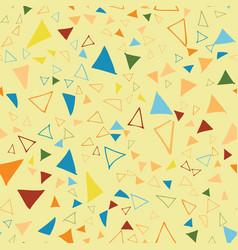 triangle confetti seamless repeat pattern design vector image