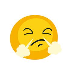 Triumph emoji face flat style icon design vector
