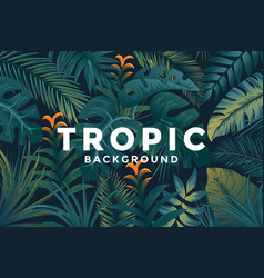 tropical background 4 vector image