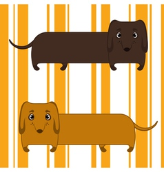Two dachshunds vector