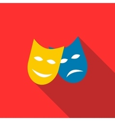Two masks icon in flat style vector image