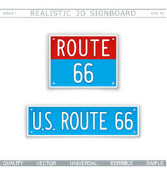 Us route 66 vector