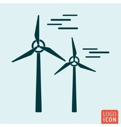 Windmill icon isolated vector