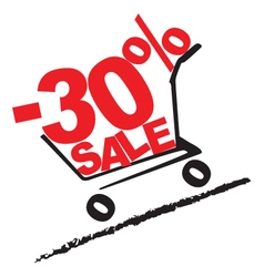 Big sale 30 percentage discount 2 vector