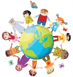 children of the world vector image vector image