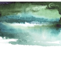 green watercolor blue background vector image vector image