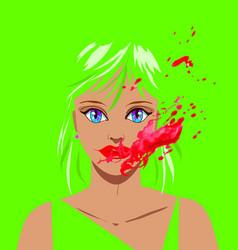 horror clown beautiful woman vector image vector image