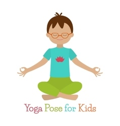 Kid Yoga Pose vector image