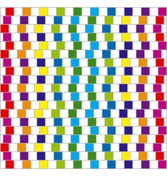 optical illusion squares background vector image