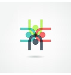 team icon vector image vector image