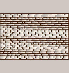 texture of ivory old brick wall vector image vector image