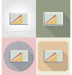business and finance flat icons 10 vector image vector image