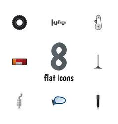 Flat icon component set of cambelt headlight vector