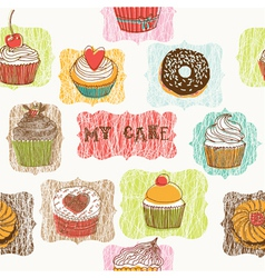 my cake drawing vector image vector image
