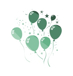 Party balloons and stars icon vector image vector image