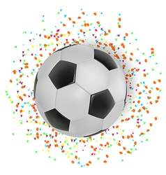 Football with color spread on white background vector image
