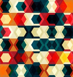 retro cell seamless pattern with grunge effect vector image vector image